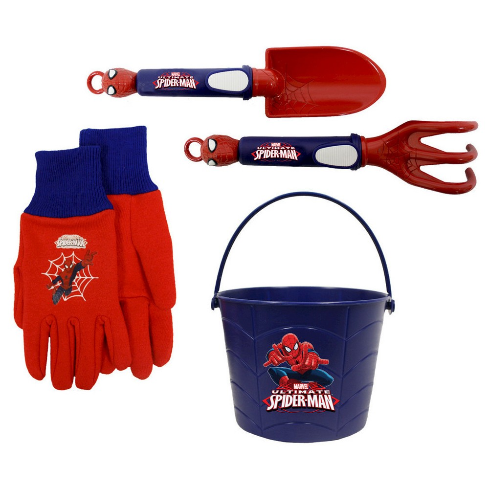 Midwest Glove Marvel Spider-Man Garden Bucket Combo, Multi-Colored