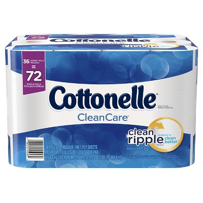 cottonelle clean care toilet paper double rolls 36pk 190ct - Inventory Checker