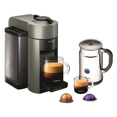 Nespresso VertuoLine Gray Evoluo Espresso & Coffee Machine with Aeroccino + Milk Frother