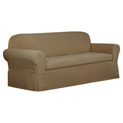 Tan Torie Loveseat Slipcover 2 Piece Maytex Target