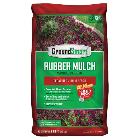 Groundsmart Rubber Mulch Bags - Cedar Red (98 ct / .8 cu ft) 78.4 cu ft - image 1 of 4