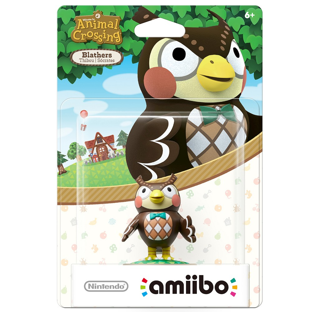 Nintendo Blathers amiibo Figure, Multi-Colored