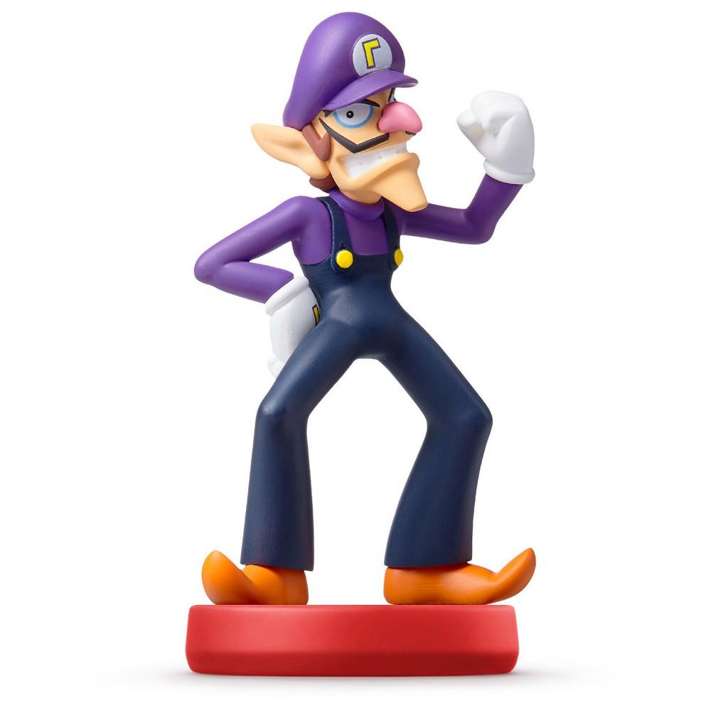 Nintendo Waluigi amiibo Figure, Multi-Colored