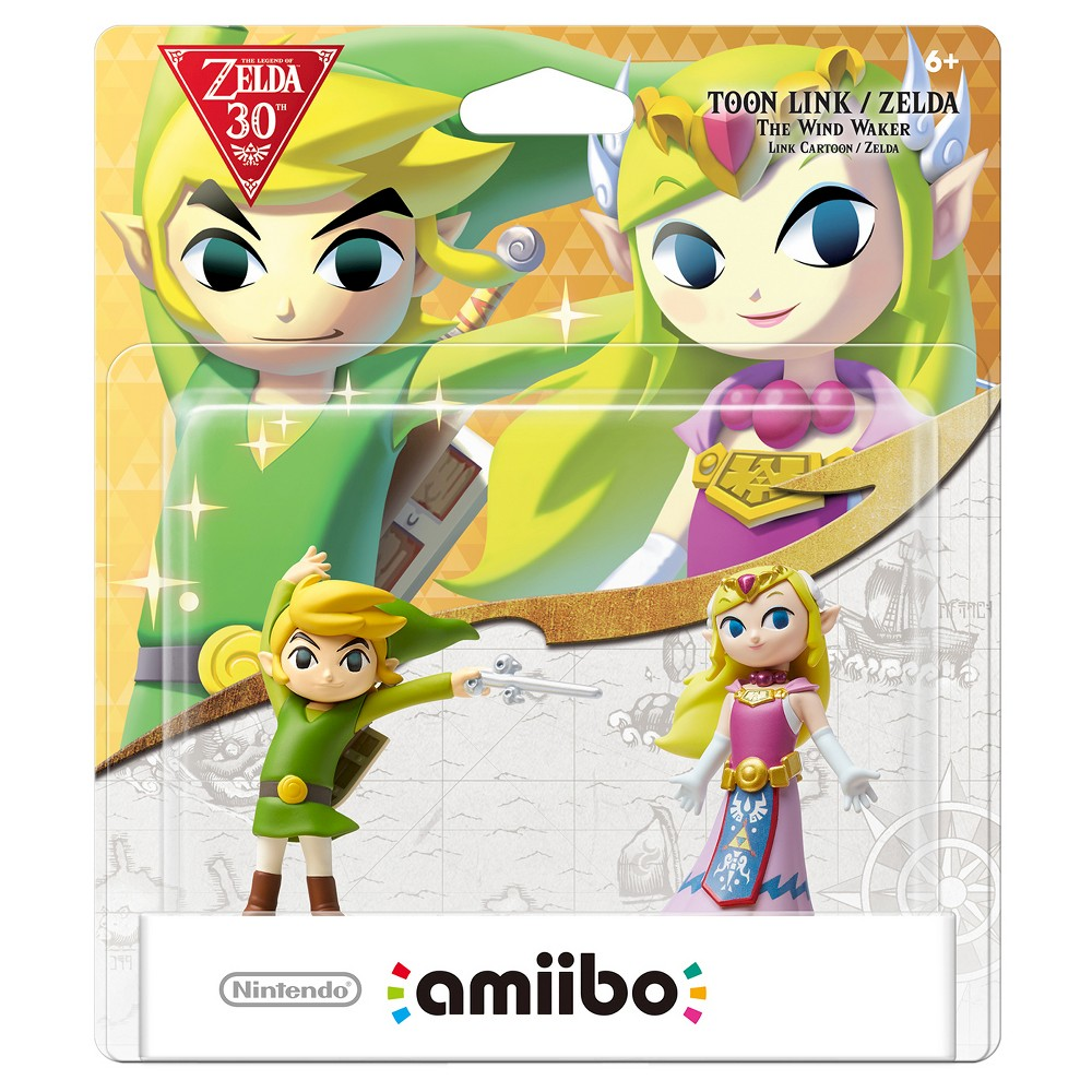 Nintendo Toon Link/Zelda: The Wind Waker 2-Pack amiibo Figures, Multi-Colored