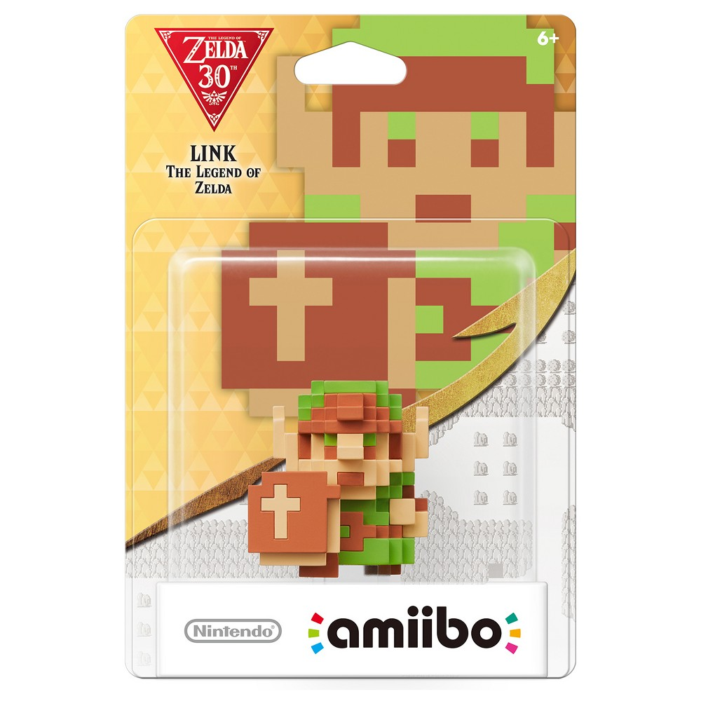 Nintendo 8-Bit Link: The Legend of Zelda amiibo Figure, Multi-Colored