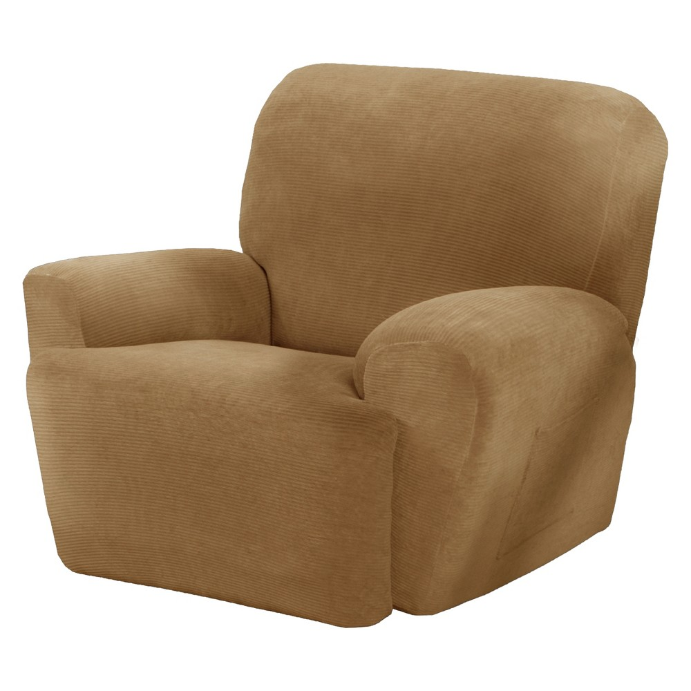 Gold Collin Stretch Recliner Slipcover (4 Piece) - Maytex