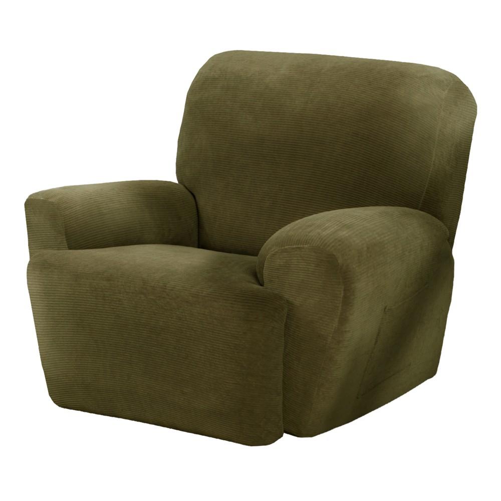 Moss (Green) Collin Stretch Recliner Slipcover (4 Piece) - Maytex