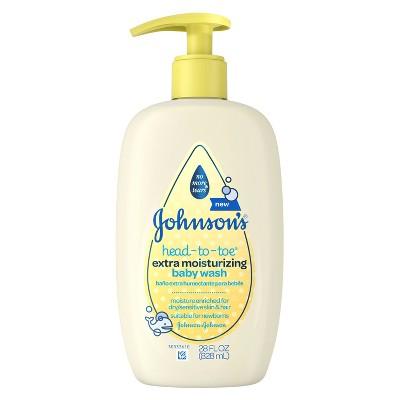 Johnson's® Head-to-Toe® Extra Moisturizing Baby Wash - 28oz