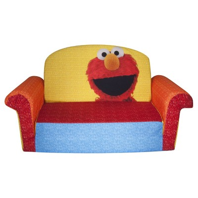 Marshmallow Furniture Children's 2 in 1 Flip Open Foam Sofa Sesame Street's Elmo/Sesame by Spin Master