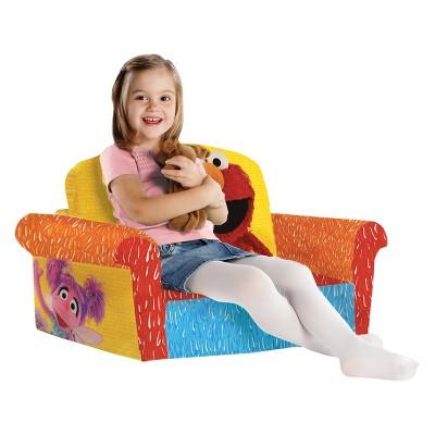 Marshmallow Furniture Childrenu0027s 2 In 1 Flip Open Foam Sofa Sesame Streetu0027s  Elmo/Sesame By Spin Master