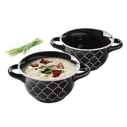 Crock-Pot Mathison 2-pc. Round Soup Bowl Set - Black