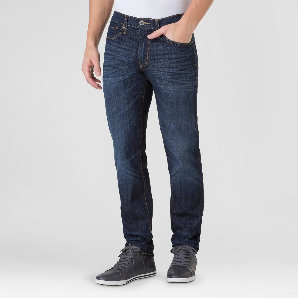 Denizen from Levis Mens Skinny Fit Jeans 216 Dark Denim Wash 30X30, Blue