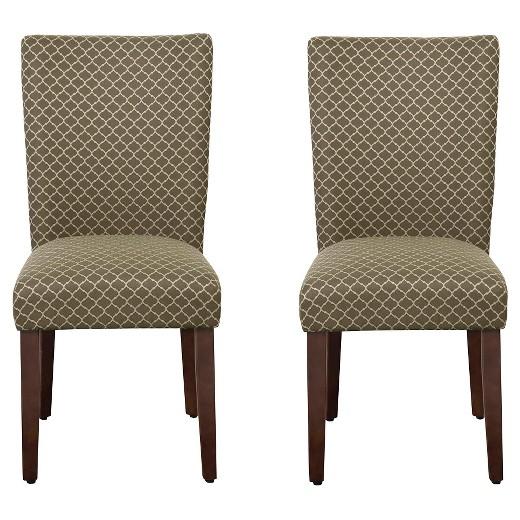 Parson Dining Chair Wood Brown Mini Diamond Set Of 2 HomePop Target