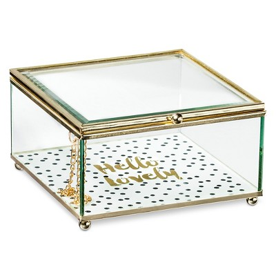 Decorative Box Tricoa Glass Square