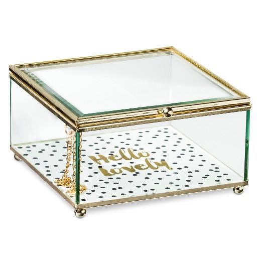 decorative box tricoa glass square target - Decorative Box