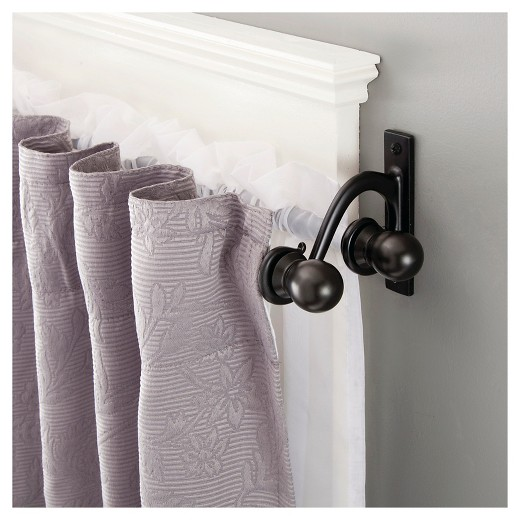 "Decorative Double Curtain Rod 5 8"" Diameter Kenney Tar"