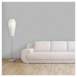 Devine Color Weave Peel & Stick Wallpaper - Beluga & Mirage