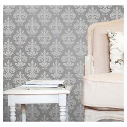 Devine Color Chantilly Peel & Stick Wallpaper - Beluga and Sterling