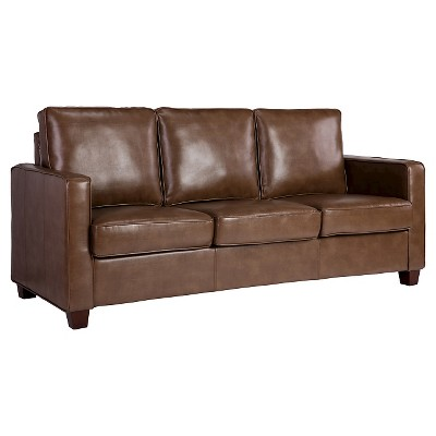 Square Arm Bonded Leather Sofa   Threshold™