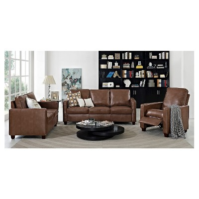 Great Square Arm Bonded Leather Sofa   Threshold™