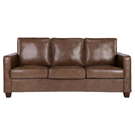 Square Arm Bonded Leather Sofa - Threshold™ : Target