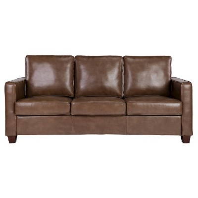 Amazing Square Arm Bonded Leather Sofa   Threshold™