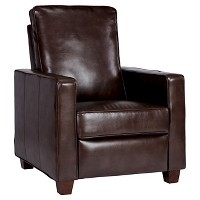 Threshold Square Arm Bonded Leather Recliner