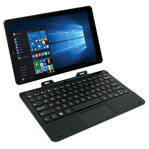 rca 11 6 inch windows 10 2 in 1 tablet computer black