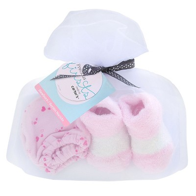 Baby Girls' Hearts Mittens/Bootie Set - Just One You™ Made by Carter's® Pink/White
