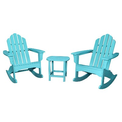 Hanover Outdoor Furniture 3 Piece All Weather Rocking
