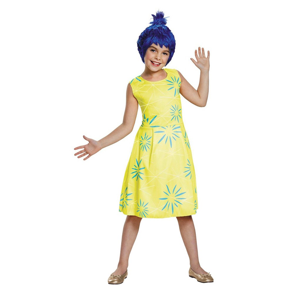 Disney Inside Out Girls Joy Classic Costume Yellow Small, Size: S(4-6)