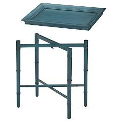 Designs Salem Folding Serving Tray Blue - Office Star®