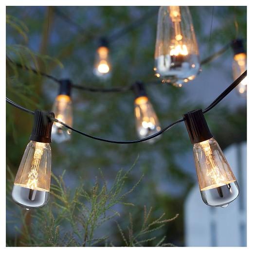 Vintage String Lights Target : 10Lt Vintage Clear Bulb with Solid Metallic Mercury on Bottom String Lights - Smith & Hawken ...