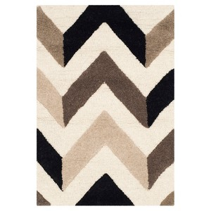 Safavieh Brindley Chevron Textured Wool Rug, Ivory/Multicolored