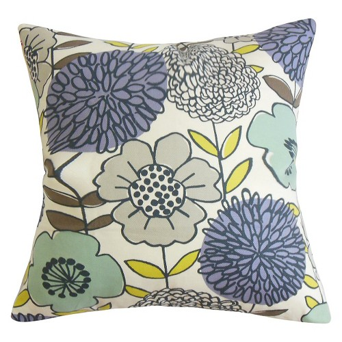 'Bold Floral Throw Pillow Purple (20''x20'') - The Pillow Collection'