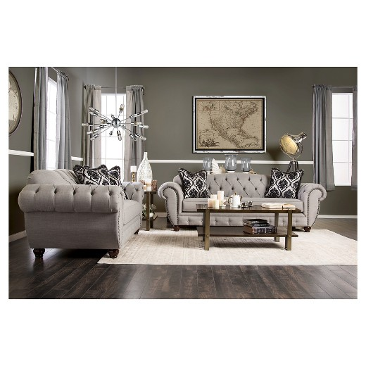 Living Room Furniture Victorian Style livingston victorian style love seat - furniture of america : target