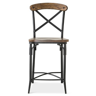 kitchen cabinet heights bralton 23 quot counter stool steel brown target inventory 2540