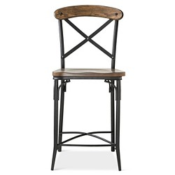 "Bralton 23"" Counter Stool - Steel/Brown"