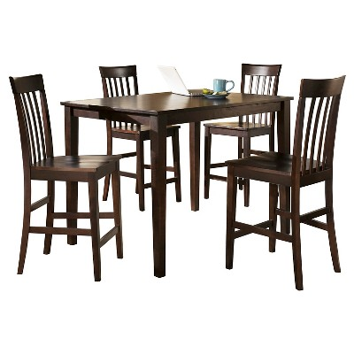5 Piece Hyland Counter Height Table Set Reddish Brown   Signature Design By  Ashley Part 73