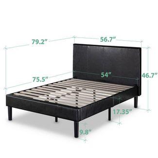 Platform Bed Pu Dark Brown Sleep Revolution