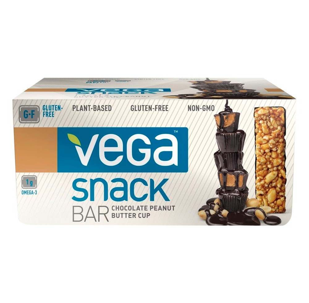 Vega Snack Chocolate Peanut Butter Cup Nutrition Bar - 12 Count