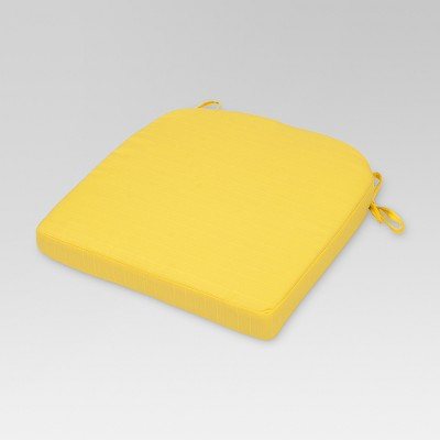 Outdoor Seat Cushion Round Back - Bright Yellow - Threshold™