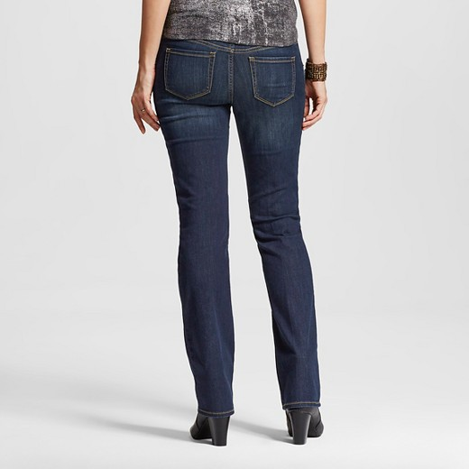 Maternity Inset Under the Belly Dark Wash Bootcut Jeans - Liz ...