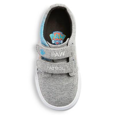 Toddler Boys' Paw Patrol Canvas Sneakers - Grey 11, Toddler Boy's, Gray