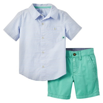 Baby Boys' 2pc Shorts Set - Just One You™ Made by Carter's® Blue/Green 18M