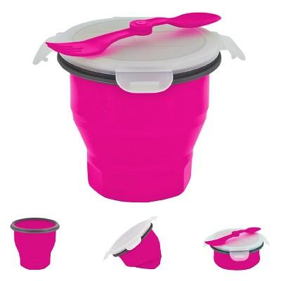 SmartPlanet Collapsible Pink Soup Bowl Kit 26 oz