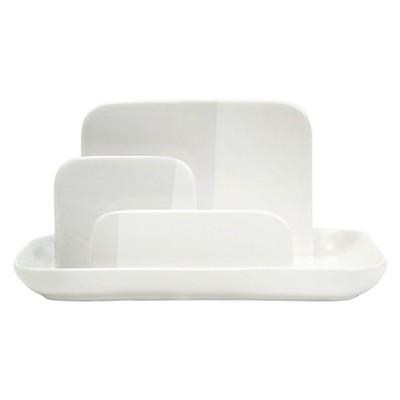 Ceramic Gloss dipped designer Letter Sorter - White