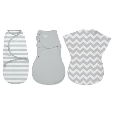 SwaddleMe® All Stages 3-Pack Gray Chevron/Stripes/Solid