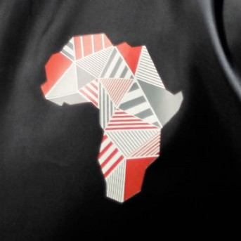 Well Worn Adult Geo Africa Track Jacket - Black
