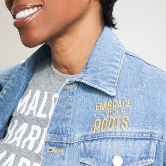 Well Worn Adult Jean Jacket - Blue, Well Worn Adult Short Sleeve Heroes T-Shirt - Thundering Gray Heather